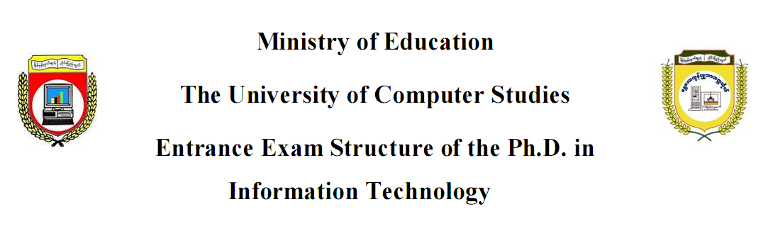 Entrance Exam Structure for Ph.D.